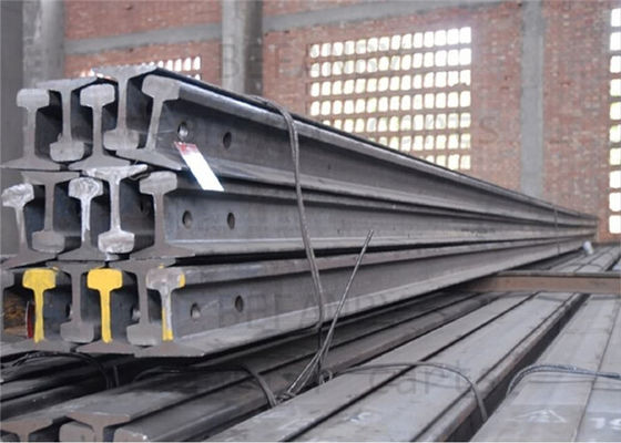 China High Tensile Strength Train Track Steel , Base Dimension 79.37mm Railway Track Material distributor